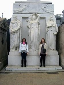 Statuesque in the cemetery
